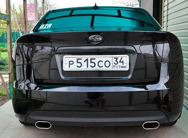 Что такое тюнинг фар? Как сделать автомобиль красивым tonirovka-zadnih-fonarej-600x443-1